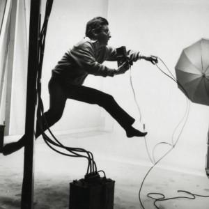 Legendary photographer Jacques-Henri Lartigue in his studio.