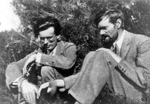 Aldous Huxley and D.H. Lawrence in Taos, 1929.