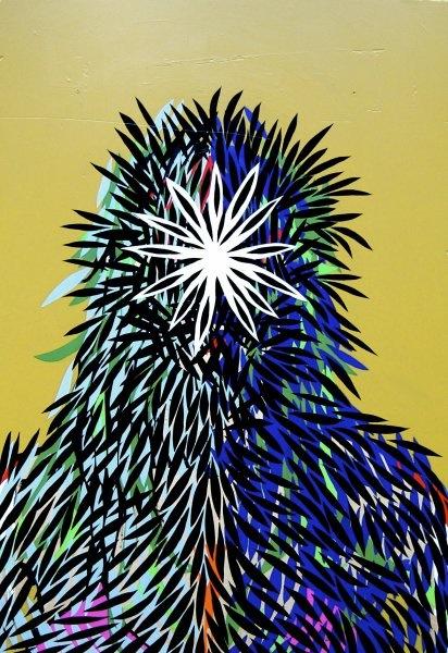 "Wildway-acrylic, wood, 41.5""/60.5"" -2011 © Adrian Atema"