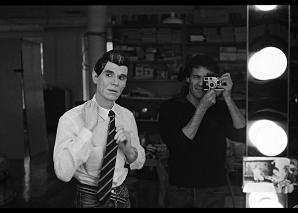 Pierre backstage photographing Andy Warhol at The Factory, NYC 1982