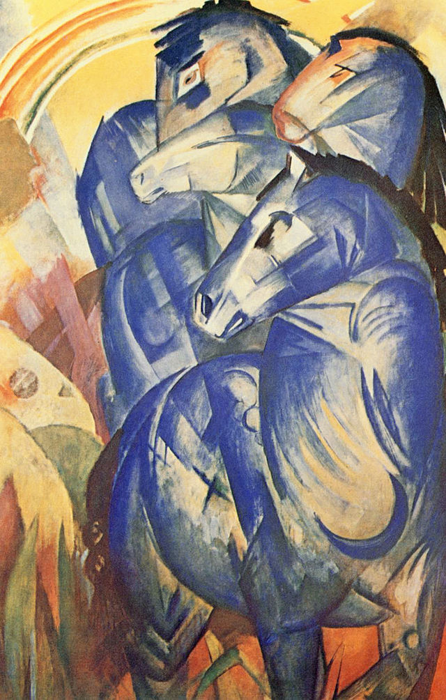 Franz Marc, The Tower of Blue Horses 1913.