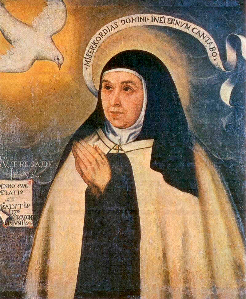 Teresa de Avila by Fray Juan de la Miseria, 1576