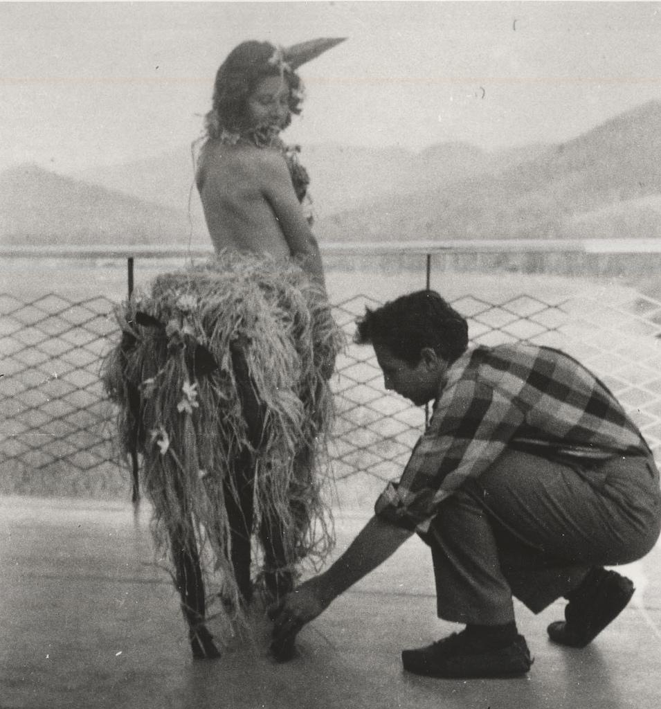 Svarc Lauterstein and Robert Rauschenberg, students at Black Mountain College c.1948-1949.