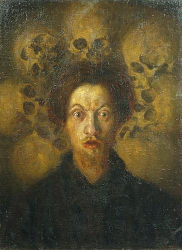 "Luigi Russolo ""Self Portrait with Skulls"", 1908."