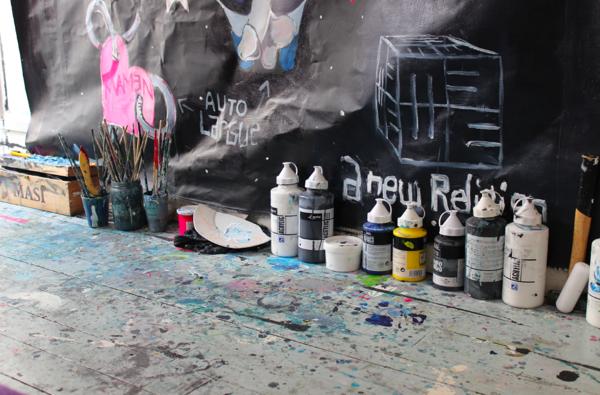 A peek inside Jeremie's studio.