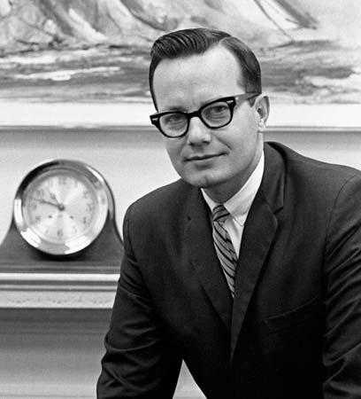 Bill Moyers in 1965 when he was the White House Press Secretary | LBJ Library Photo by Yoichi Okamoto