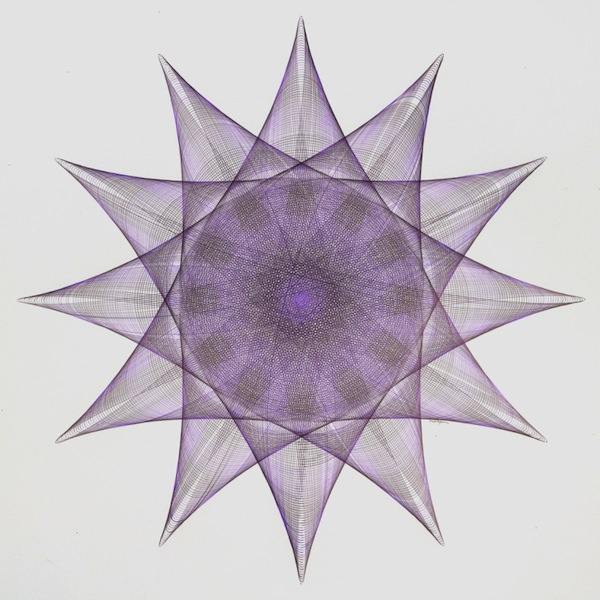 Mary Wagner |Drawing with purple ink and black ink