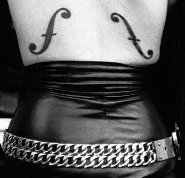 Judy Nylon's Man Ray Tattoo