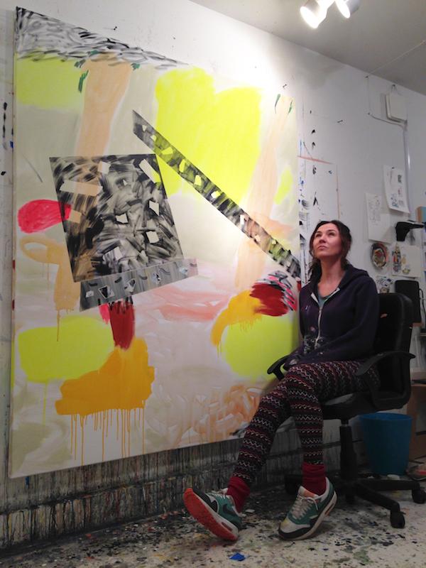Pepa in her studio