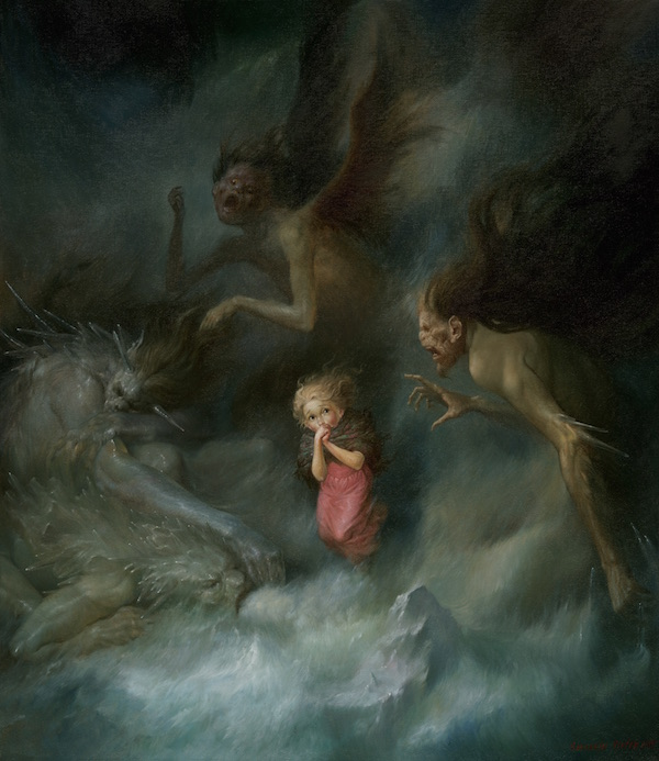 Viktor Safonkin  Praying Gerda, oil on canvas. 2005, 80 x 70 cm