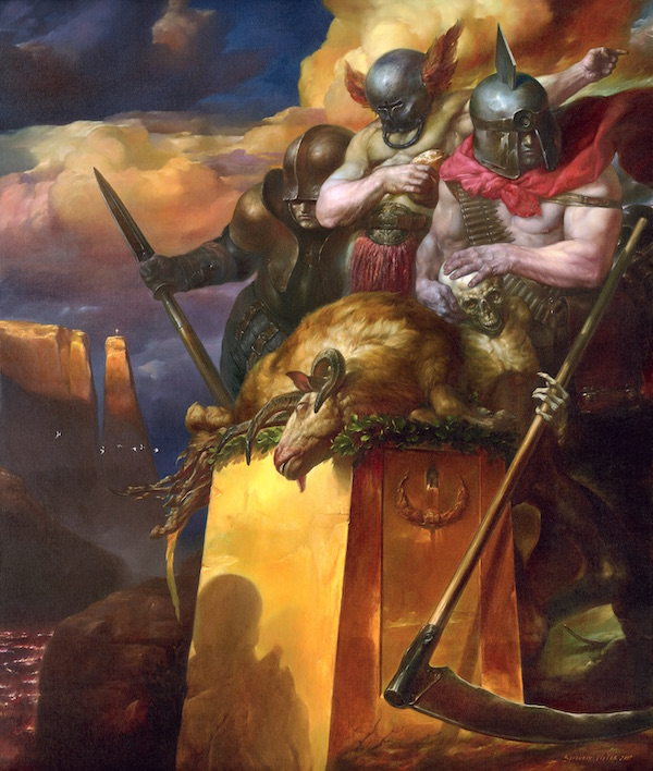 Viktor Safonkin   Soldiers of the Apocalypse. oil on canvas, 2007, 120 x 100 cm