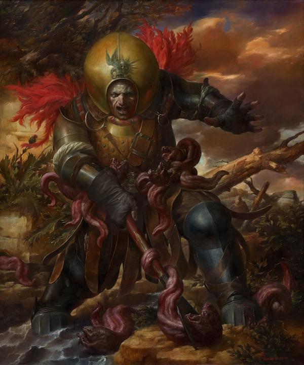 Viktor Safonkin   Lies Suppression. oil on canvas, 2008, 120 x 100 cm