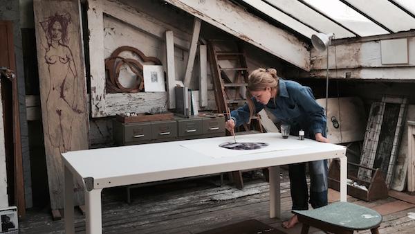 Amy Hilton in her studio | Photo by Laurent Godard