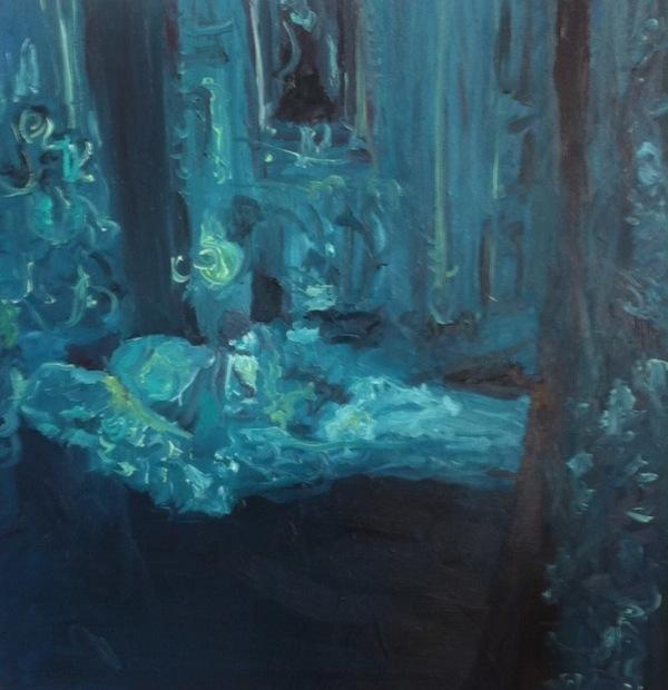 The Blue Room | Manuel Larralde| Oil on canvas |1mx1m |2014