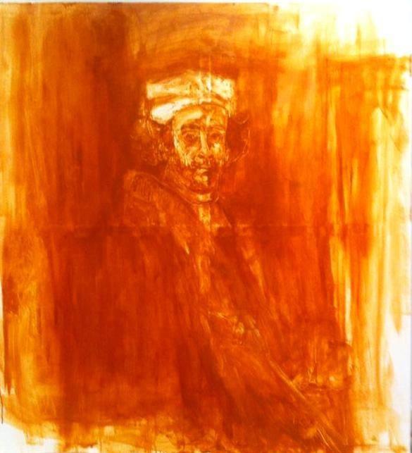 Pre-existing image |Manuel Larralde|  120 x 110cm | Oil on canvas
