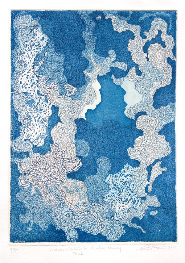 Esther Sherrow | Undecidability in Number Theory Blue | 2015